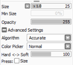 brush settings for sai hello u know how u said binary is a pixel
