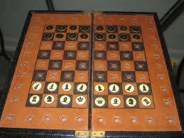 travel chess set images Antique pocket travel chess set jpg