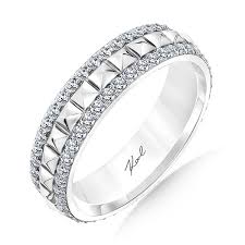 pyramid wedding band karl lagerfeld kollection 1 diamond edged wedding ring