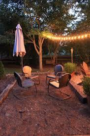 backyard ideas railroad ties backyard and lights