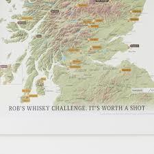 Scratch Off World Map Scratch Off Scotland Whisky Distilleries Print