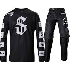 motocross gear phoenix shift 2017 new mx recon checkers jersey over boot pants black
