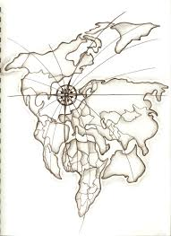 Map Tattoo Lovely World Map Tattoo On Upperback Photos Pictures And
