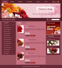flash website template free download themes powerpoint for flower shops