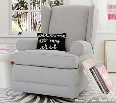 wingback glider u0026 recliner pottery barn kids