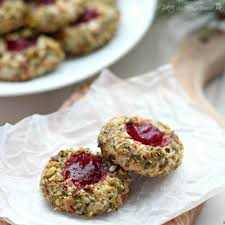 cranberry pistachio cream cheese thumbprint cookies recipes