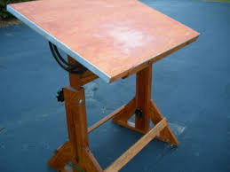 Antique Oak Drafting Table Antique Oak And Maple Drafting Table Top Measures 31