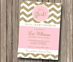 pink and gold baby shower invitations chevron blush pink and gold chagne baby shower invitation