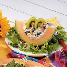 Cottage Cheese Recepies by Cottage Cheese Cantaloupe Salad Recipe Taste Of Home