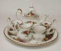 country roses tea set 73 best miniature tea sets images on tea time