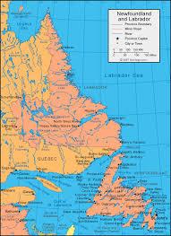 map of canada east coast newfoundland and labrador map newfoundland canada