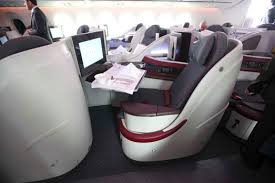 Boeing 787 Dreamliner Interior Flight Test Qatar Dreamliner Business Class
