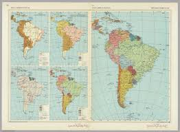 Political Map Of South America by South America Political And Historical Pergamon World Atlas