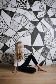 geometric shapes mural black and white large wallpaper geometric shapes mural black and white large wallpaper