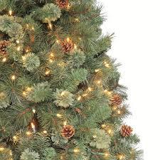 martha stewart living 7 5 ft pre lit sparkling pine artificial