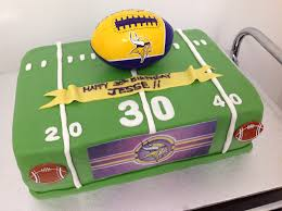 football cake for 30th birthday minnesota vikings fan box of