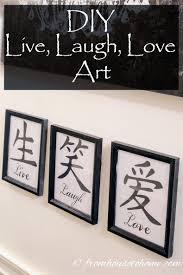 live laugh love art diy live laugh love art