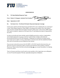 Intent To Hire Letter From Employer by Fiu Smrt State Floridaone Dmat