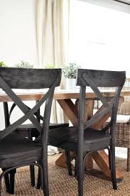 chairs to go with farmhouse table black table chairs this easy to build farmhouse table is the perfect
