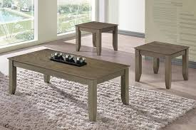 good quality affordable 3 piece coffee table set grey finish in