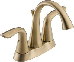 Polished Brass Bathroom Fixtures by Delta 2538 Czmpu Dst Lahara Two Handle Centerset Bathroom Faucet