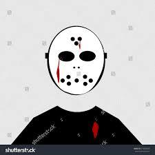 scary halloween cartoons man scary halloween hockey mask stock illustration 218664763
