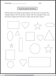kindergarten math shapes worksheets coloring pages tracing for