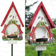 fabrication mangeoire oiseaux mangeoire jardin magique blanc h 45cm mangeoires bains d u0027oiseaux