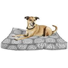 Tempur Pedic Dog Bed Harmony Grey Medallion Print Lounger Memory Foam Dog Bed Petco