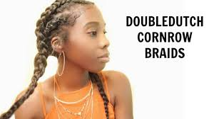 knappy clip in hair extensions double dutch cornrow braids tutorial using clip in hair extensions