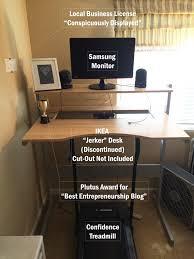 Treadmill Desk Ikea My Home Office And Hardware Setup Side Hustle Nation