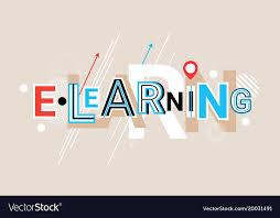 creative font design online elearning online education creative word over vector image