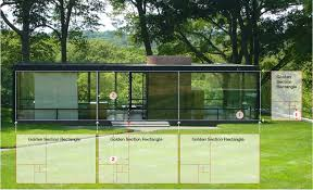 philip johnson s glass house golden section analysis on behance glass house front elevation and golden section