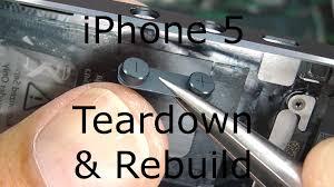 iphone 5 repair teardown u0026 rebuild screen replacement youtube