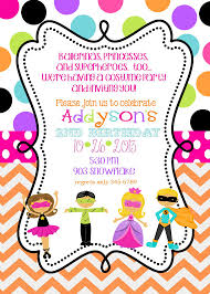 costume birthday party invitations printable or by noteablechic