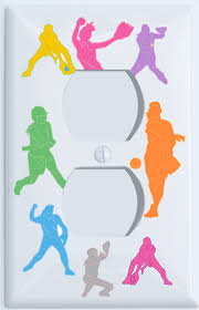 girls softball outlet switch plates covers