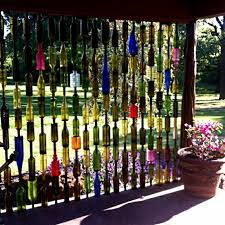 Upcycled Wine Bottles - upcycled garden style a website from gardens inspired
