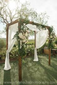 wedding arches diy falkner winery rustic wedding arch pinteres