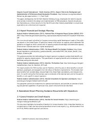 e relevant airport planning and nextgen references and guidance
