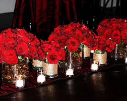 tall red wedding centerpieces bold red centerpieces