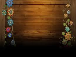 free wooden ground with flowers frame backgrounds for powerpoint