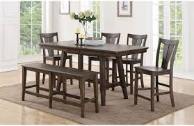 Birch Dining Table And Chairs Winners Only 78 Solid Birch Counter Height Dining Table