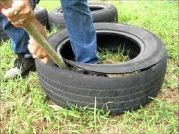 How To Use Old Tires For Decorating How To Cut A Tire And Make It Into A Garden Pot Wmv Youtube