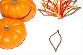 thanksgiving miniature pumpkin turkey craft for wikki stix
