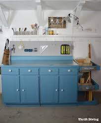 upcycled workstation with diy scrap wood storage