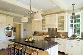 Slate Backsplash In Kitchen Slate Backsplash Tile Kitchen Traditional With Barstools Braces
