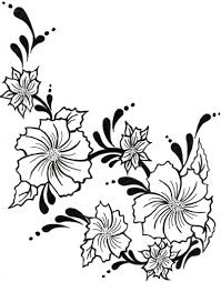 hawaiian flower coloring pages fablesfromthefriends com