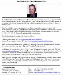 7 biography sample format students resume