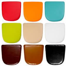 galette de siege coussins de siège en faux cuir pour chaise de style tolix cult uk