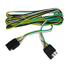 amazon com abn trailer wire extension 8 u0027 foot 4 way 4 pin plug